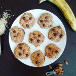 Gluten-free banana chocolate almond cookies