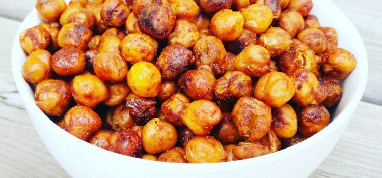 Roasted maple cinnamon chickpeas