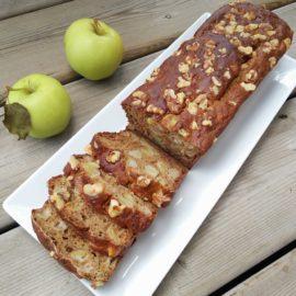 Whole wheat apple walnut banana bread