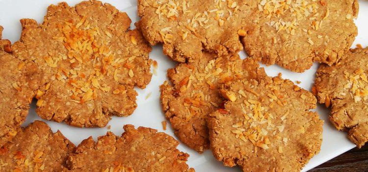 Vegan peanut coconut cookies