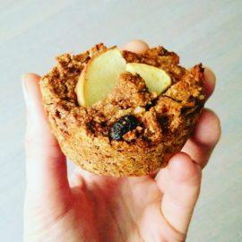 Vegan Apple coconut raisin muffins